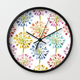 Heart Flower - colorful Wall Clock