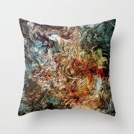blured glass Throw Pillow