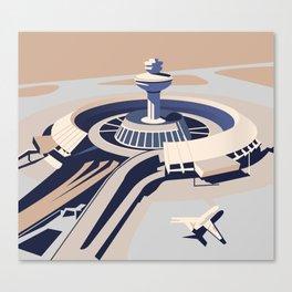 Soviet Modernism: Zvartnots airport, Armenia Canvas Print