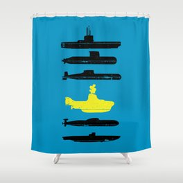 Know Your Submarines V2 Shower Curtain