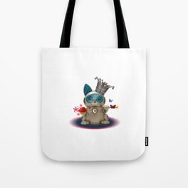 B.U.D.G.I.E. (Biomechanical Unit Designed for Galactic Infiltration and Exploration) Tote Bag