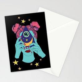 Girl, No - Ouija Black Stationery Cards