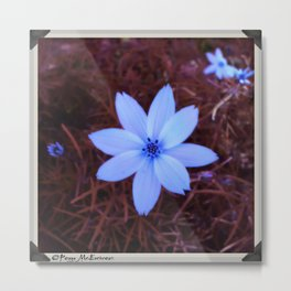 Shambhala Flower White 1a - Scrap Metal Print