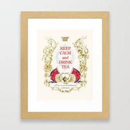 Keep calm and drink tea Framed Art Print