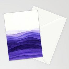 Ultra violet waves Stationery Cards