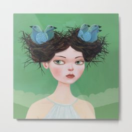 Gwen of Two Nests Metal Print