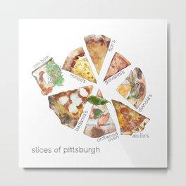 Slices of Pittsburgh Metal Print