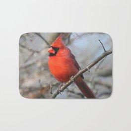 Male Northern Cardinal Bath Mat