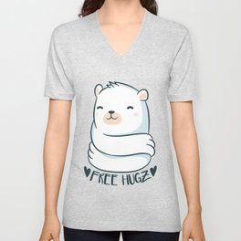 Kawaii Bear Unisex V-Neck