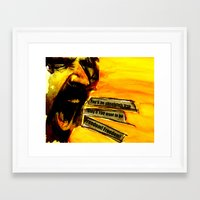 zappa Framed Art Prints featuring Zappa Free by MarjoBourge