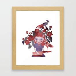 The flamingo inspire me... Framed Art Print