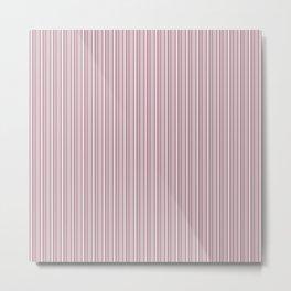 Blush Rose White Stripes Metal Print