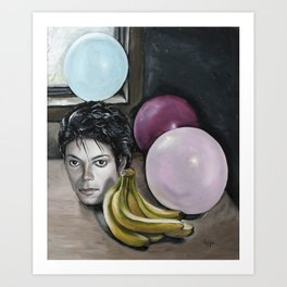 Still Life with MJ Art Print