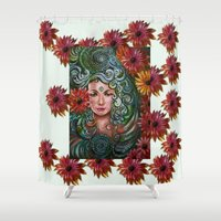 chakra Shower Curtains featuring Chakra Sadhna by Harsh Malik