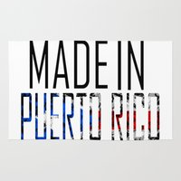puerto rico Area & Throw Rugs featuring Made In Puerto Rico by VirgoSpice