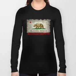 California flag - Retro Style Long Sleeve T-shirt