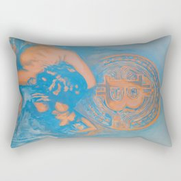 Bitcoin rising (Fear of the unknown) Rectangular Pillow