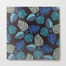 Blue Frond Metal Print