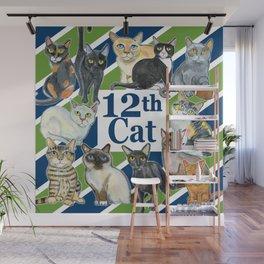 12th Cat Wall Mural