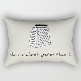 Grater than I Rectangular Pillow