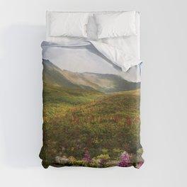 Fireweed Valley Alaska - Mountian Landscape Duvet Cover