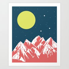 galactic mountains Art Print