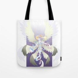 Radiant Rainbow Seraph Tote Bag