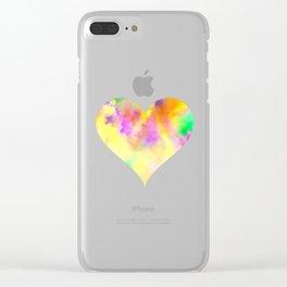 Color fun fest heart Clear iPhone Case