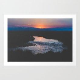 Long Valley Sunset Art Print