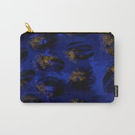 Electric blue abstract ovals Carry-All Pouch