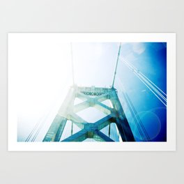 oakland bay bridge  Art Print