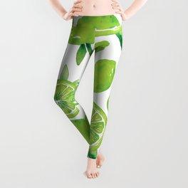 Zesty Lime Pattern Leggings