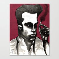 nick cave Canvas Prints featuring Nick Cave by Rafols