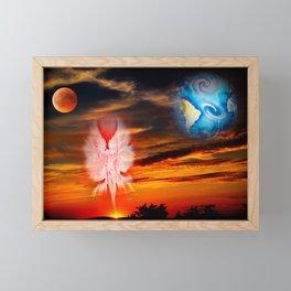 Full moon - Fascination Blood moon Framed Mini Art Print