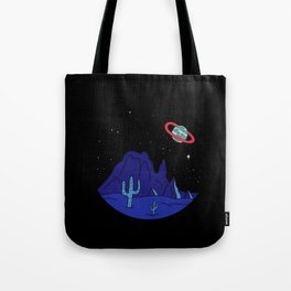 Black Gives way to Blue Tote Bag