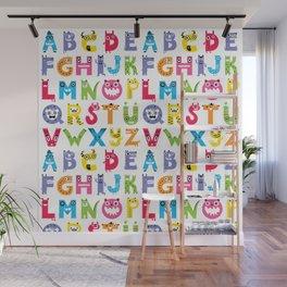 Alphabet Monsters Wall Mural