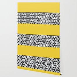 Black, White and Yellow Geo Wallpaper