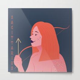 Sagittarius Zodiac Woman Metal Print