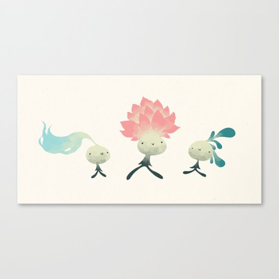 les microbes  Canvas Print