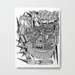 Geometric Mutations Metal Print