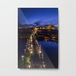 Blue Prague Evenings.. Metal Print