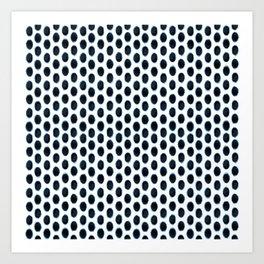 Geometric Indigo Shibori Art Print