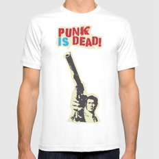Punky Harry White Mens Fitted Tee MEDIUM