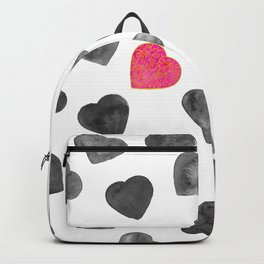 One heart in a million black and pink Backpack