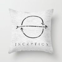 inception Throw Pillows featuring Inception by Tony Vazquez