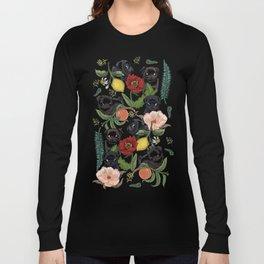Botanical and Black Pugs Long Sleeve T-shirt