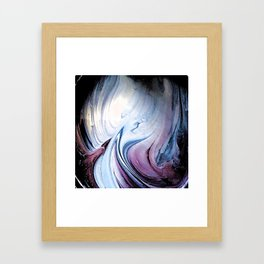 Tint Blot - Blue Stalagmites Framed Art Print