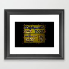Wrigleyville Dogs Framed Art Print