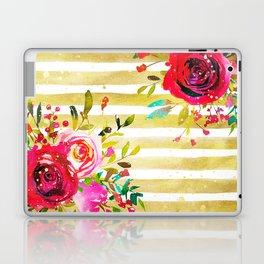 Flowers & Stripes 2 Laptop & iPad Skin