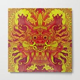 Bali Yellow Metal Print